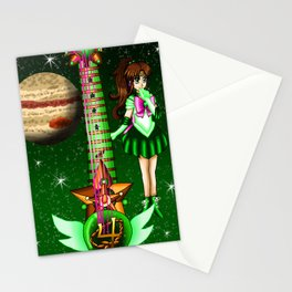 Sailor Moon Guitar #5 - Sailor Jupiter (Makoto Kino) Stationery Cards