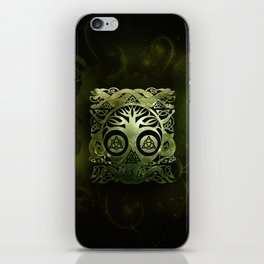 Tree of life - Yggdrasil  and celtic animals iPhone Skin