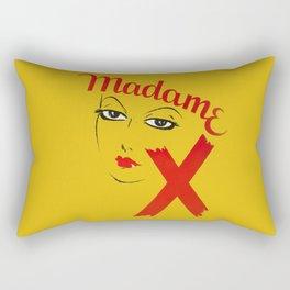 Vintage Madame X Movie Film Bold Graphic  Rectangular Pillow