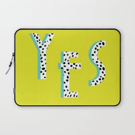 YES Poster | Lime Dalmatian Pattern Laptop Sleeve