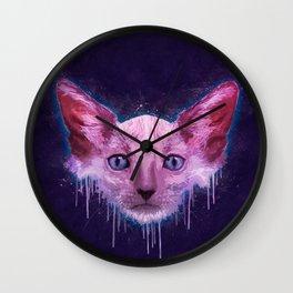 Pop Art Lykoi Cat Wall Clock