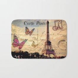 Vintage Paris-Carte Postale Bath Mat