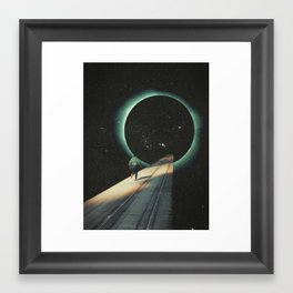 Escaping into the Void Framed Art Print