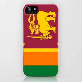 Flag of sri Lanka -ceylon,India, Asia,Sinhalese, Tamil,Pali,Buddhist,hindouist,Colombo,Moratuwa,tea iPhone Case
