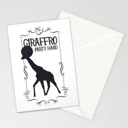 Giraffro Party Hard Stationery Cards