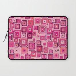 Watercolour Squares Pink Amanya Design Laptop Sleeve