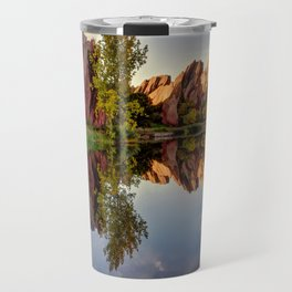 Red Rocks Reflection Travel Mug