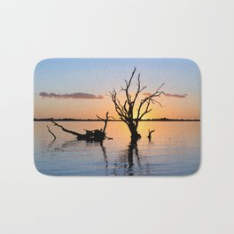 Sunset Silhouette Bath Mat