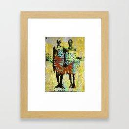 Aged couple Framed Art Print