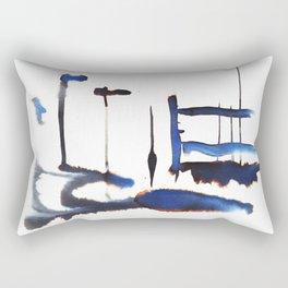 Blue Rivers Rectangular Pillow