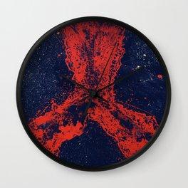 Fire Orchidea Art  Wall Clock