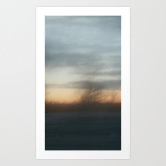 Hazy shade of winter Art Print