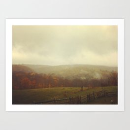 Misty Fall in Vermont Art Print
