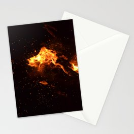 Bonfire warming up Stationery Cards