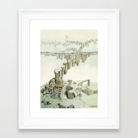future Framed Art Prints featuring Future by Jean-Pierre Humbert