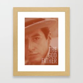 The Godfather, Alternative Movie Poster, Al Pacino, Marlon Brando, classic film Framed Art Print