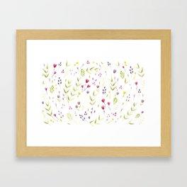 Berry Bouquet Framed Art Print