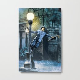 Singing in the Rain Movie Poster - Gene Kelly Print - Classic Home Art, Musical Metal Print
