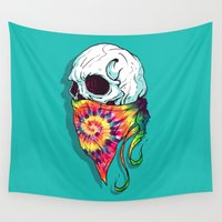 hipster Wall Tapestries featuring Hipster by Steven Toang