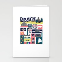 kansas city Stationery Cards featuring Kansas City by cwassmer