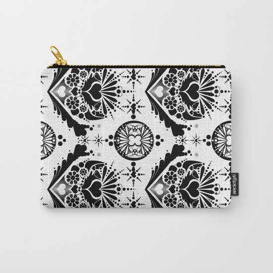 black pattern 8 Carry-All Pouch