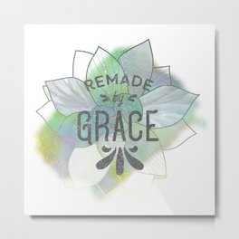 Being Remade - Succulent Version Metal Print