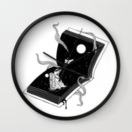 Discover New Worlds Wall Clock
