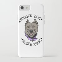 pitbull iPhone & iPod Cases featuring Pitbull by pixxelr