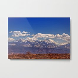 Desert and Mountains Metal Print