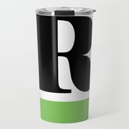 Monogram Letter R (color block) Travel Mug