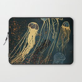 Metallic Jellyfish Laptop Sleeve