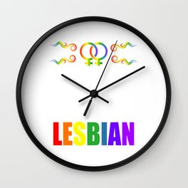 Gay Lesbian LGBT Bisexual Homosexual pansexual trans queer gender rainbow Wall Clock