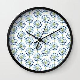 Heart Flower - Blue Wall Clock
