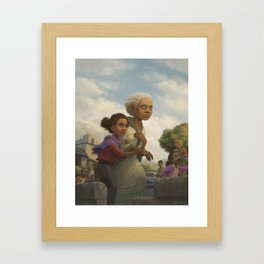 Where you go, I will go. Framed Art Print