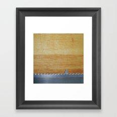 Shark infested breadboard Framed Art Print