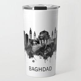 Baghdad Iraq Skyline BW Travel Mug