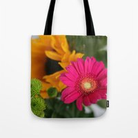 hot pink Tote Bags featuring hot pink by EnglishRose23