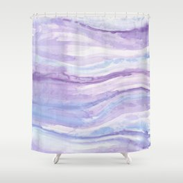 Abstract textile Shower Curtain