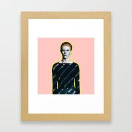 pinky bowie zx Framed Art Print