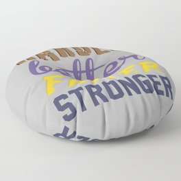 Harder Better Faster Stronger Floor Pillow