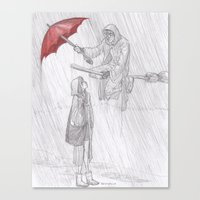 burdge Canvas Prints featuring Rainy Monday by Burdge