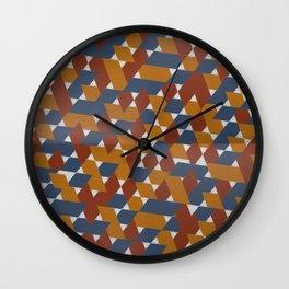 Red-Blue-Orange Wall Clock