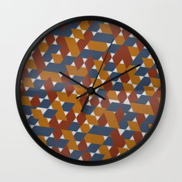 Red-Blue-Orange Wall Clock