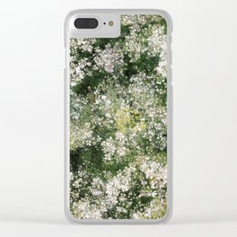 when coriander blossom.. Clear iPhone Case