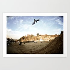 Taka Higashino's Doublegrab Backflip, FMX Japan  Art Print