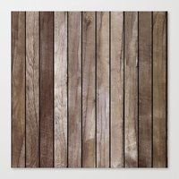 wooden Canvas Prints featuring Wooden Texture by Patterns and Textures
