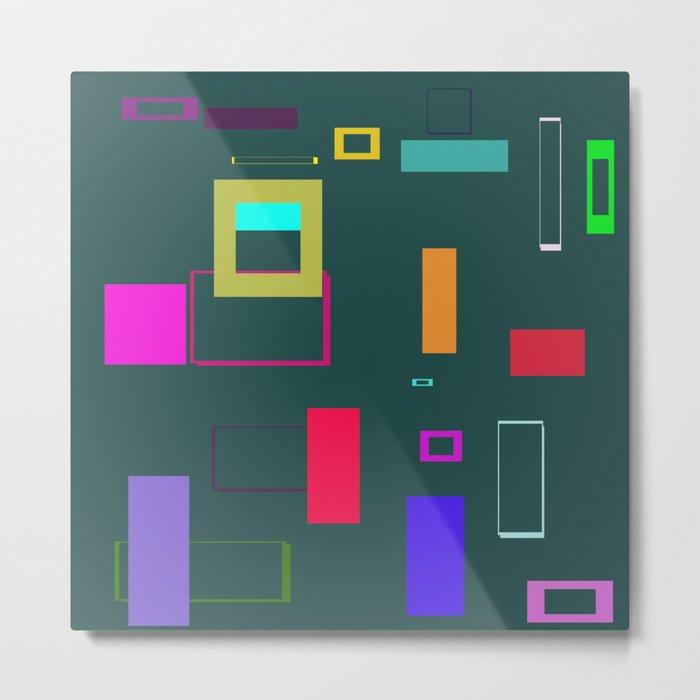 Squares and Rectangles Metal Print