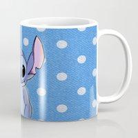 lilo and stitch Mugs featuring Lilo and Stitch - Stitch by Julia Kolos