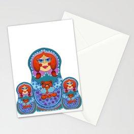 Matrioska with teddy Stationery Cards
