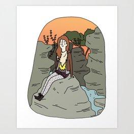Les Batignolles. Art Print